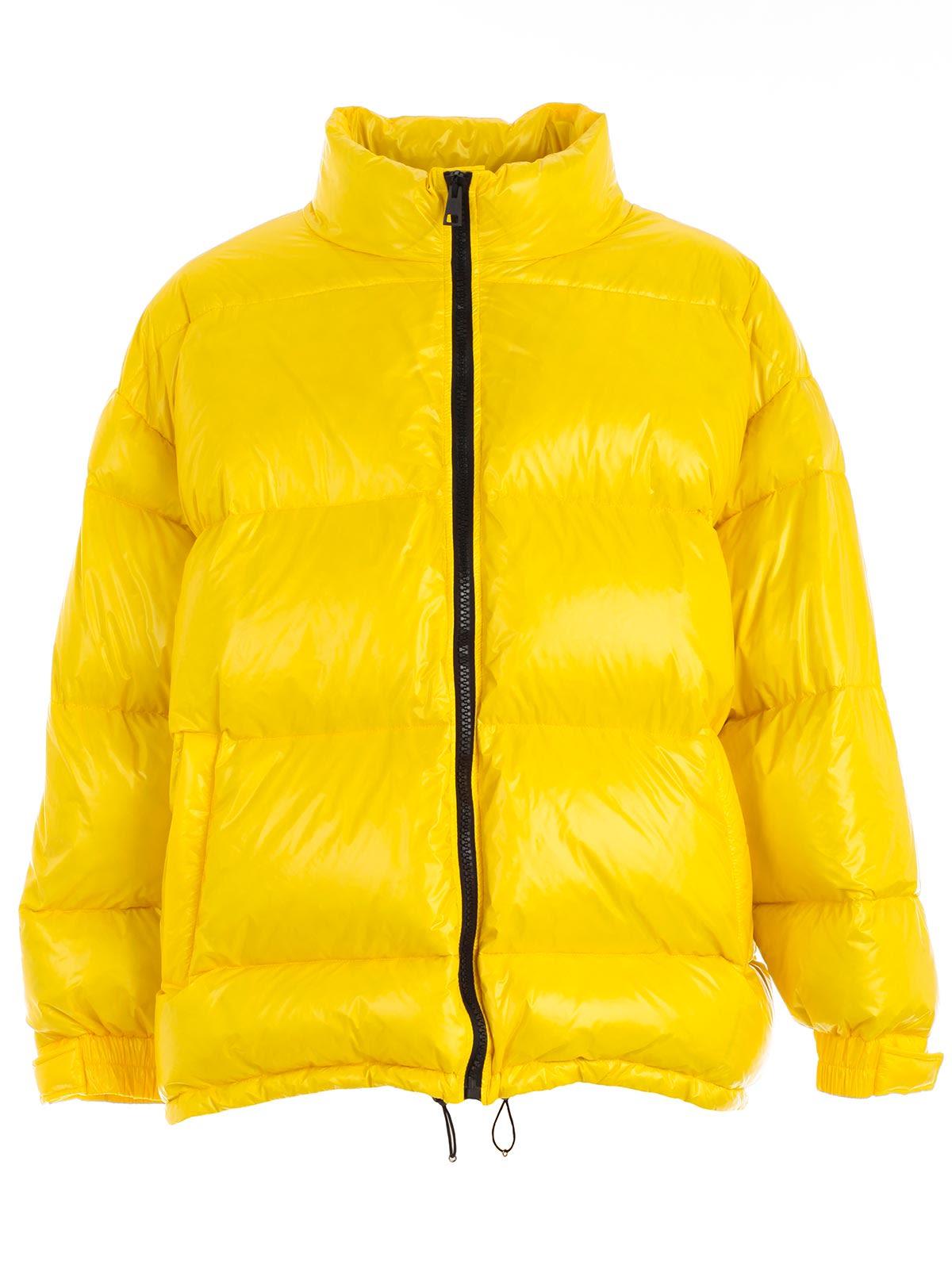 DANILO PAURA Zipped-Up Padded Jacket in Yellow