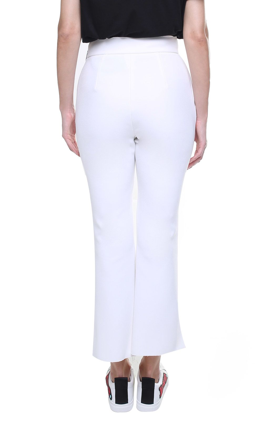 Button-embellished stretch-jersey trousers Msgm Outlet Low Price Fee Shipping Latest Outlet Store Locations Cheap Sale For Sale RXUXikXos