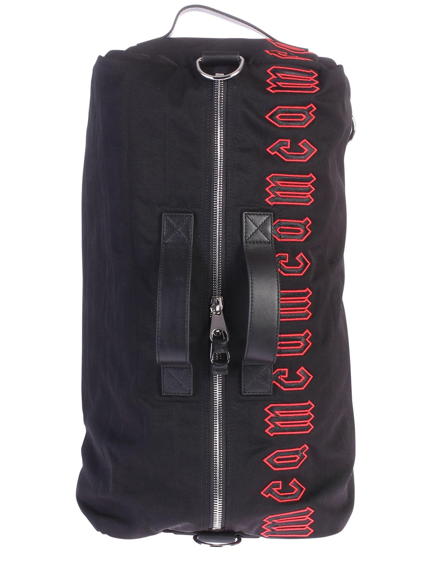 Black Branded Duffle Bag