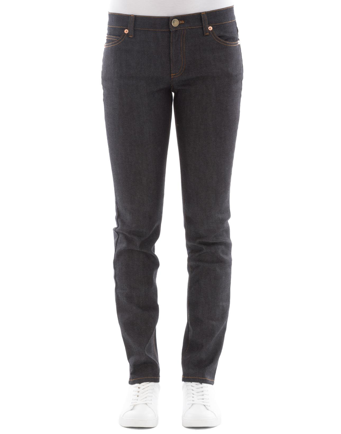 Blue Polyester Jeans 10482398
