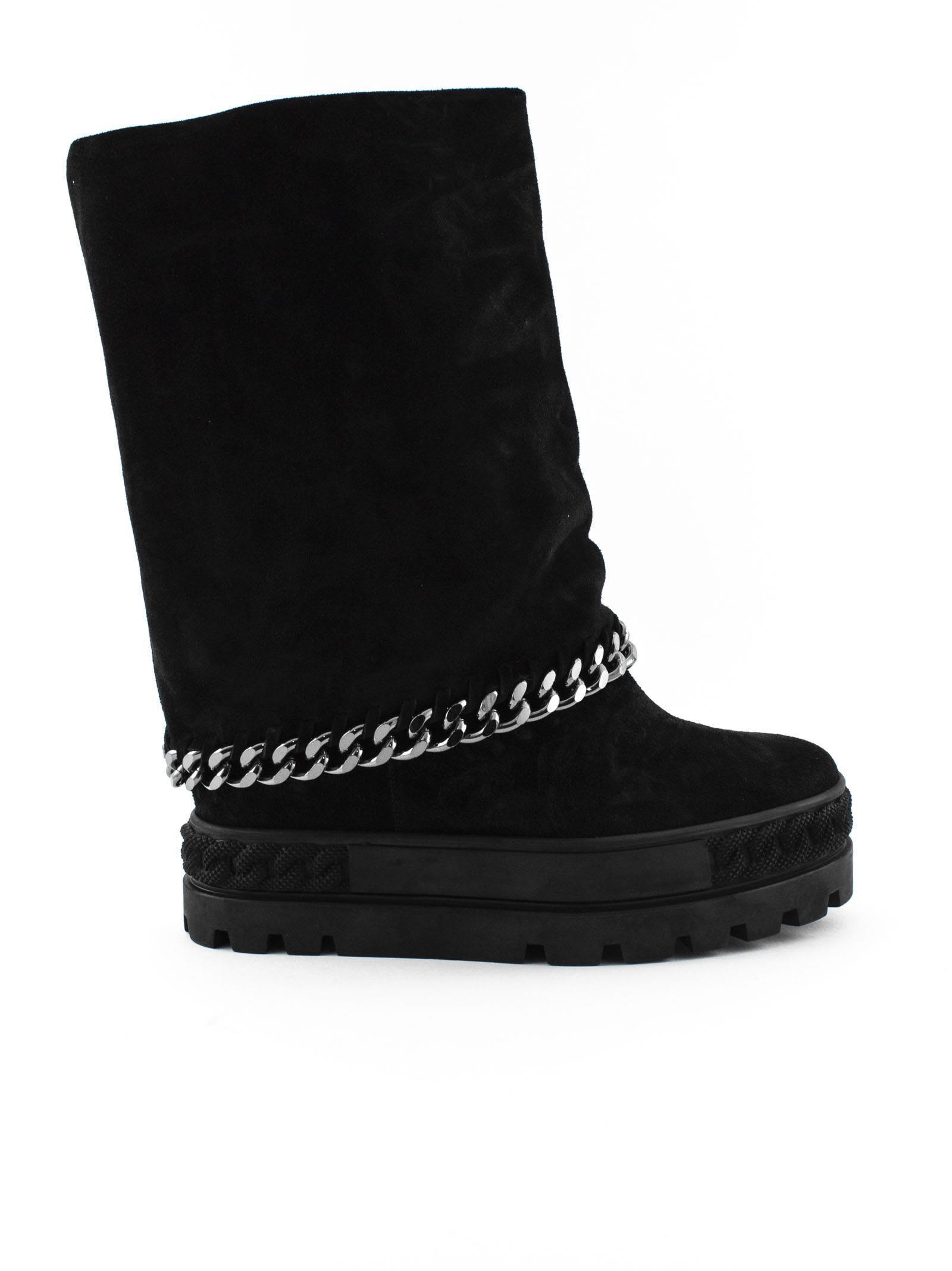 Reversable Sneaker In Black Suede., Nero