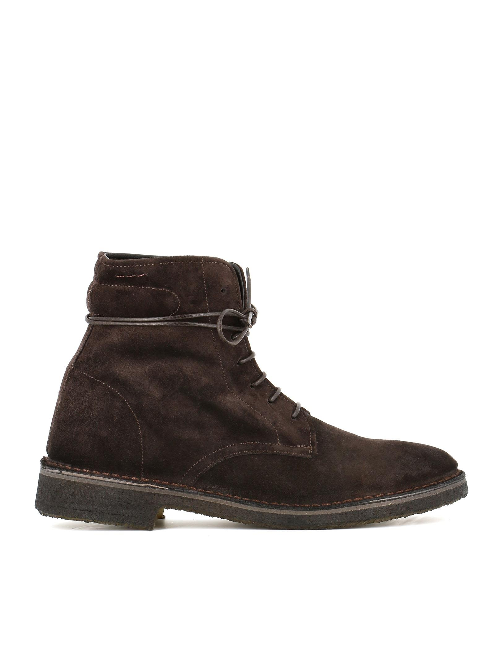 """ALEXANDER HOTTO Lace-Up Boots """"54200X"""" in Brown"""