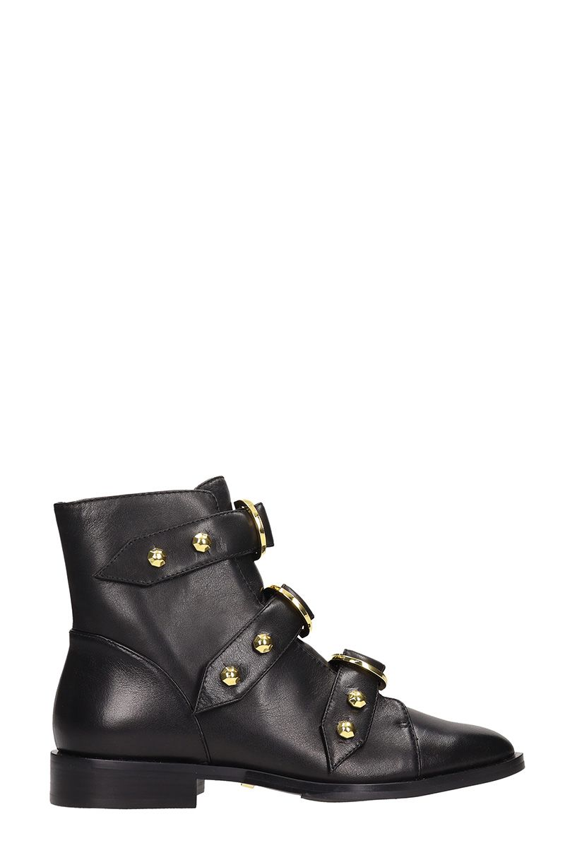 Elsie Nappa Leather Ankle Boots in Black