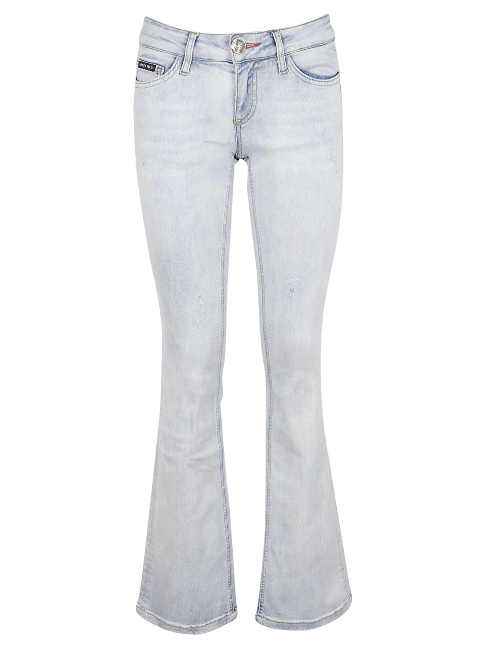 wide flared jeans - Blue Philipp Plein bTChL