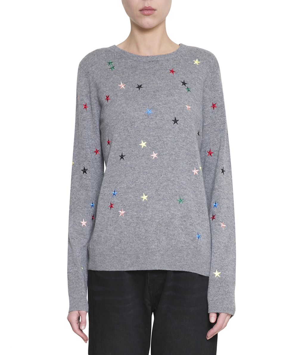Equipment Embroidered Cashmere Sweater