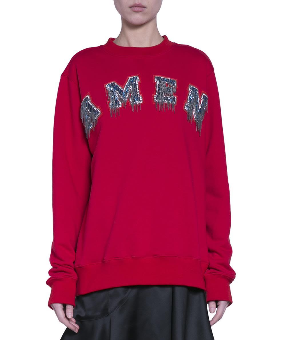 AMEN Logo Cotton Sweatshirt in Red