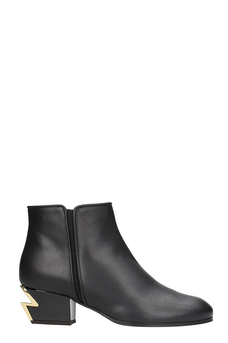 Giuseppe Zanotti Calfskin leather mini boot with sculpted heel G-HEEL reqFw