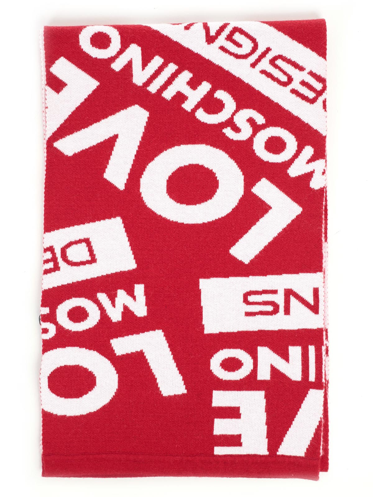 LOVE MOSCHINO Logo Scarf in Red