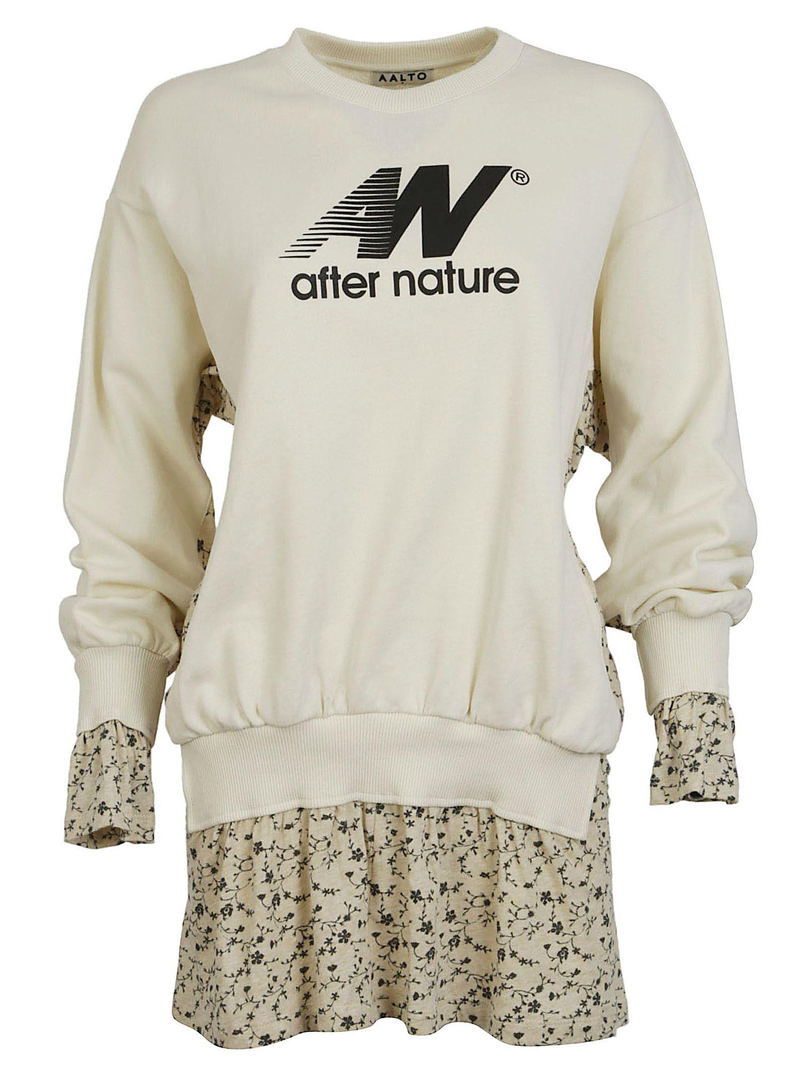 aalto female aalto layered floral sweatshirt