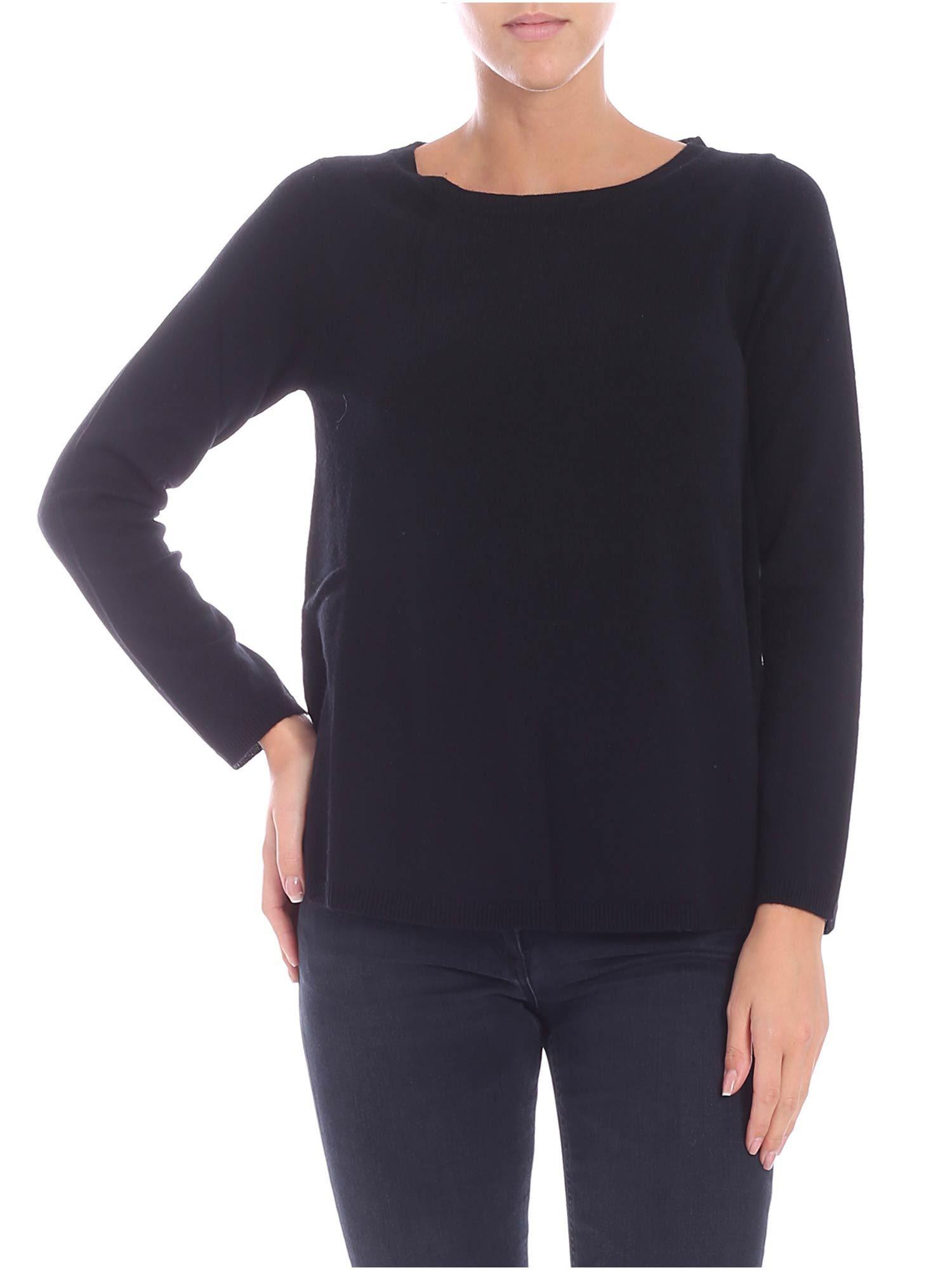 KANGRA Cachemire Blend Sweater in Nero