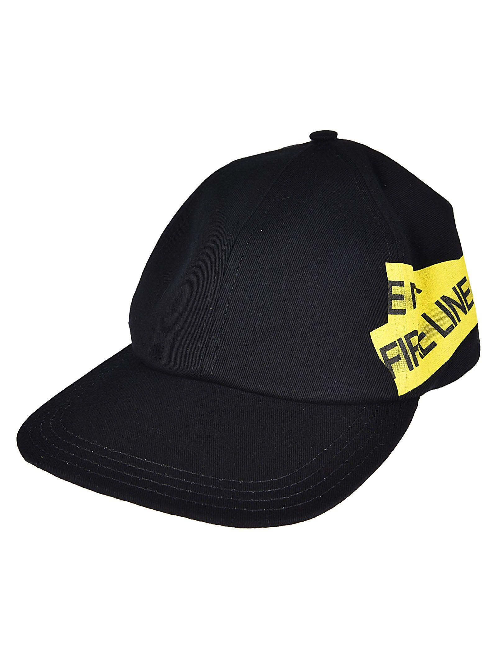 Black and Yellow Firetape Cap Off-white 0yfobzCa