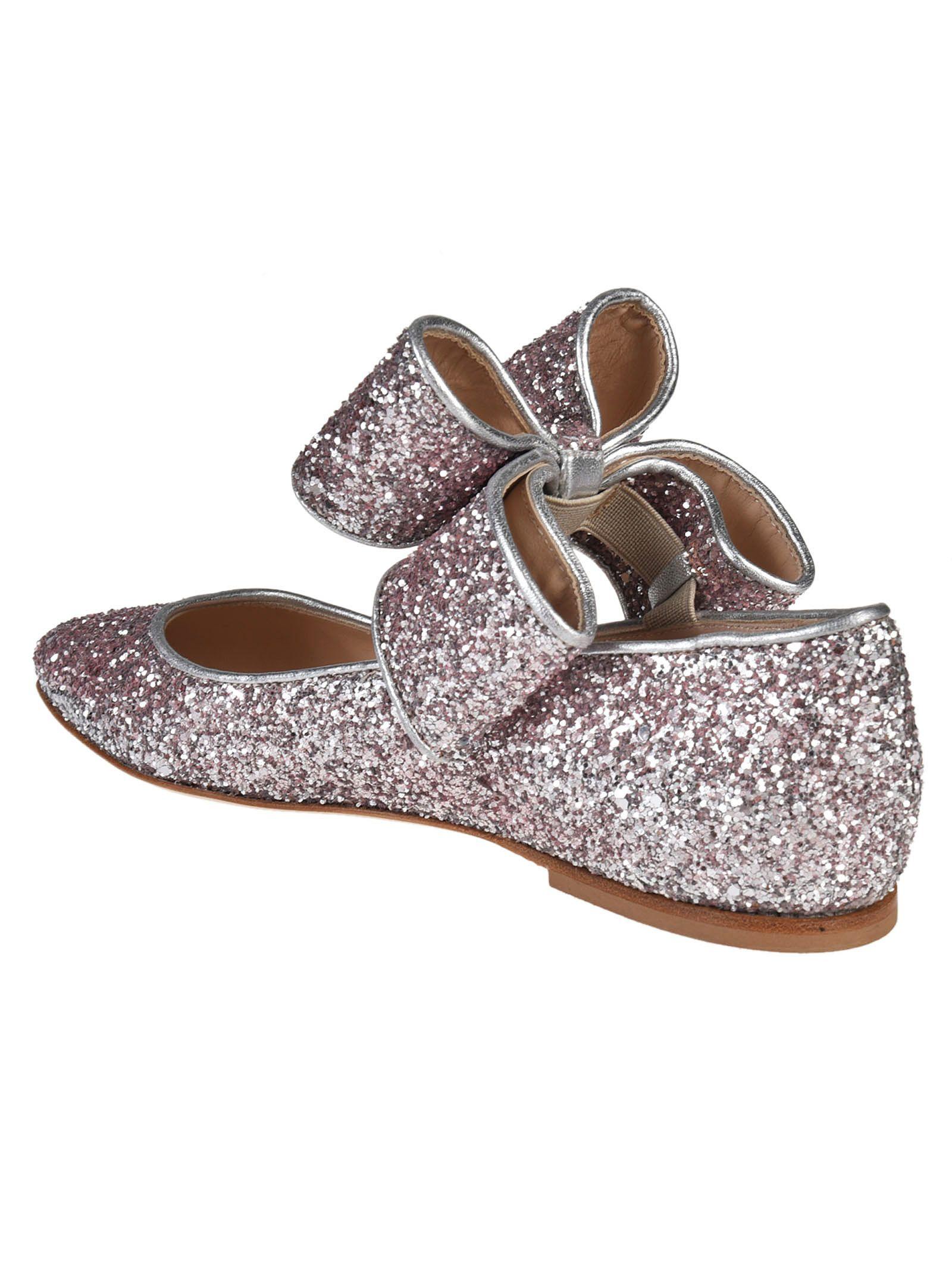 Polly Plume Glitter bow sandals 0Xmqu