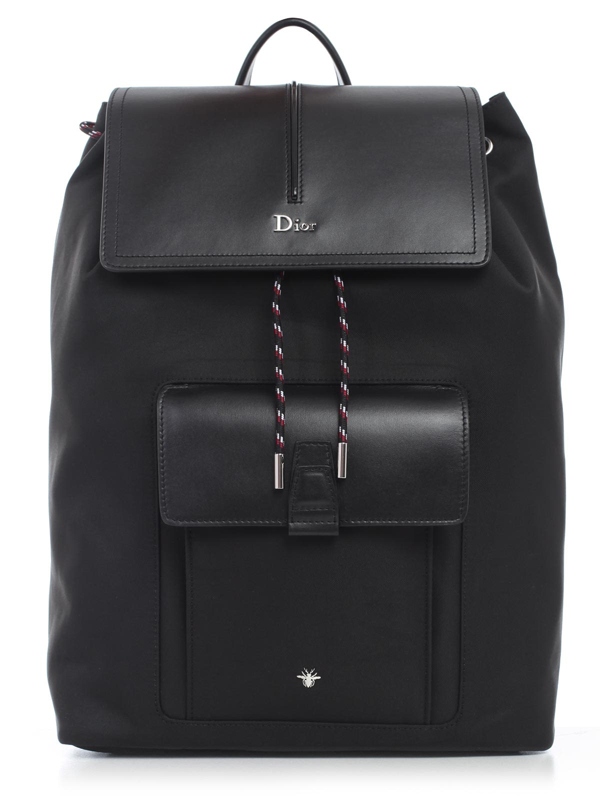 DIOR HOMME Flap Backpack, 15E Black Multicolor