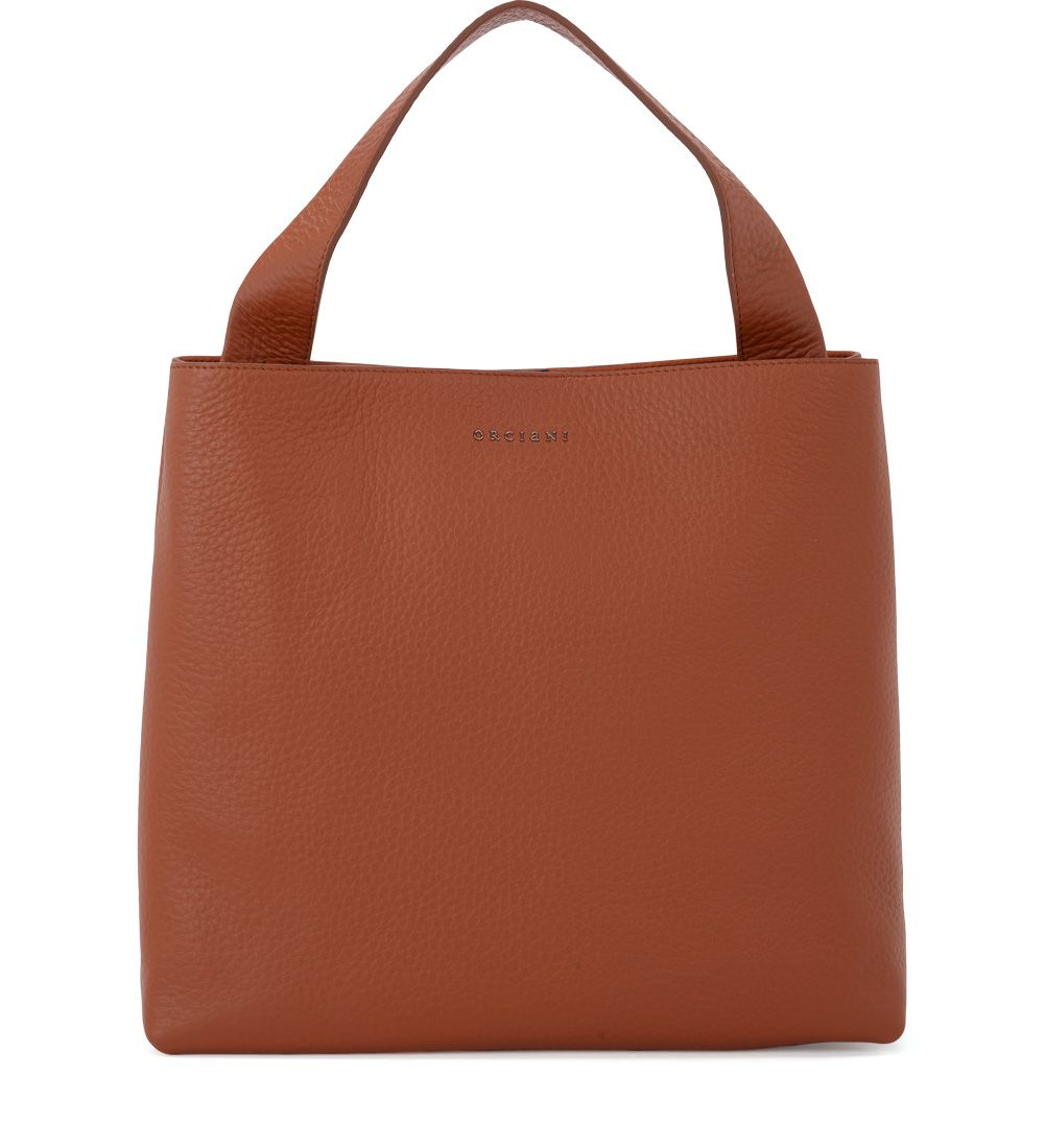 Jackie Tobacco Tumbled Leather Shoulder Bag, Marrone
