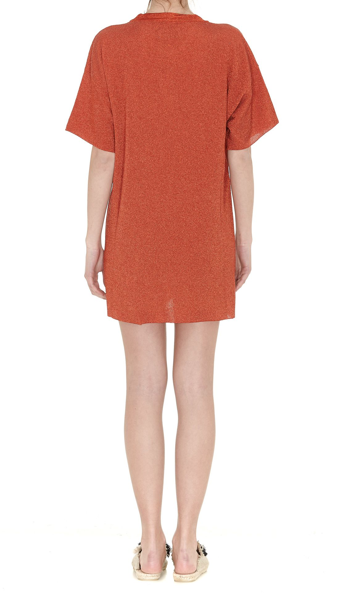 V-neck knit dress - Metallic Laneus eLCGz