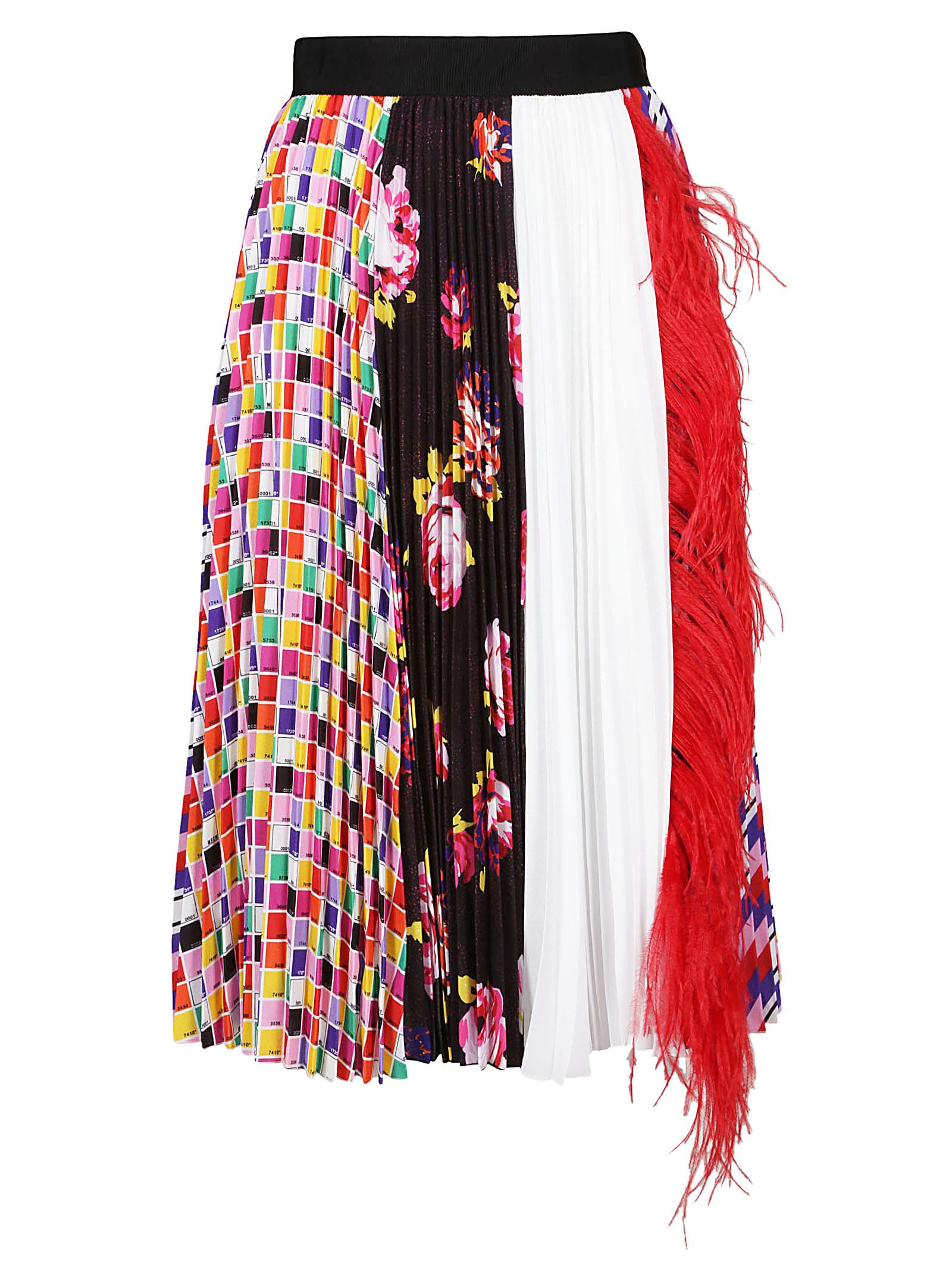 msgm -  Feather Embellished Skirt