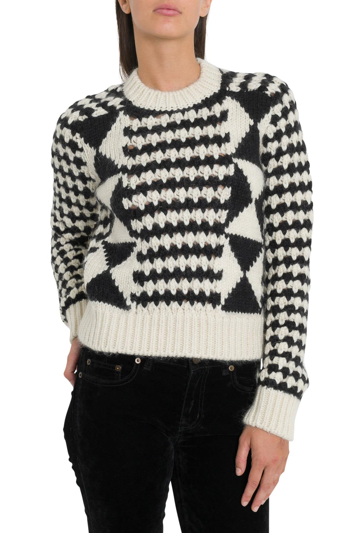 Saint Laurent Intarsia Sweater