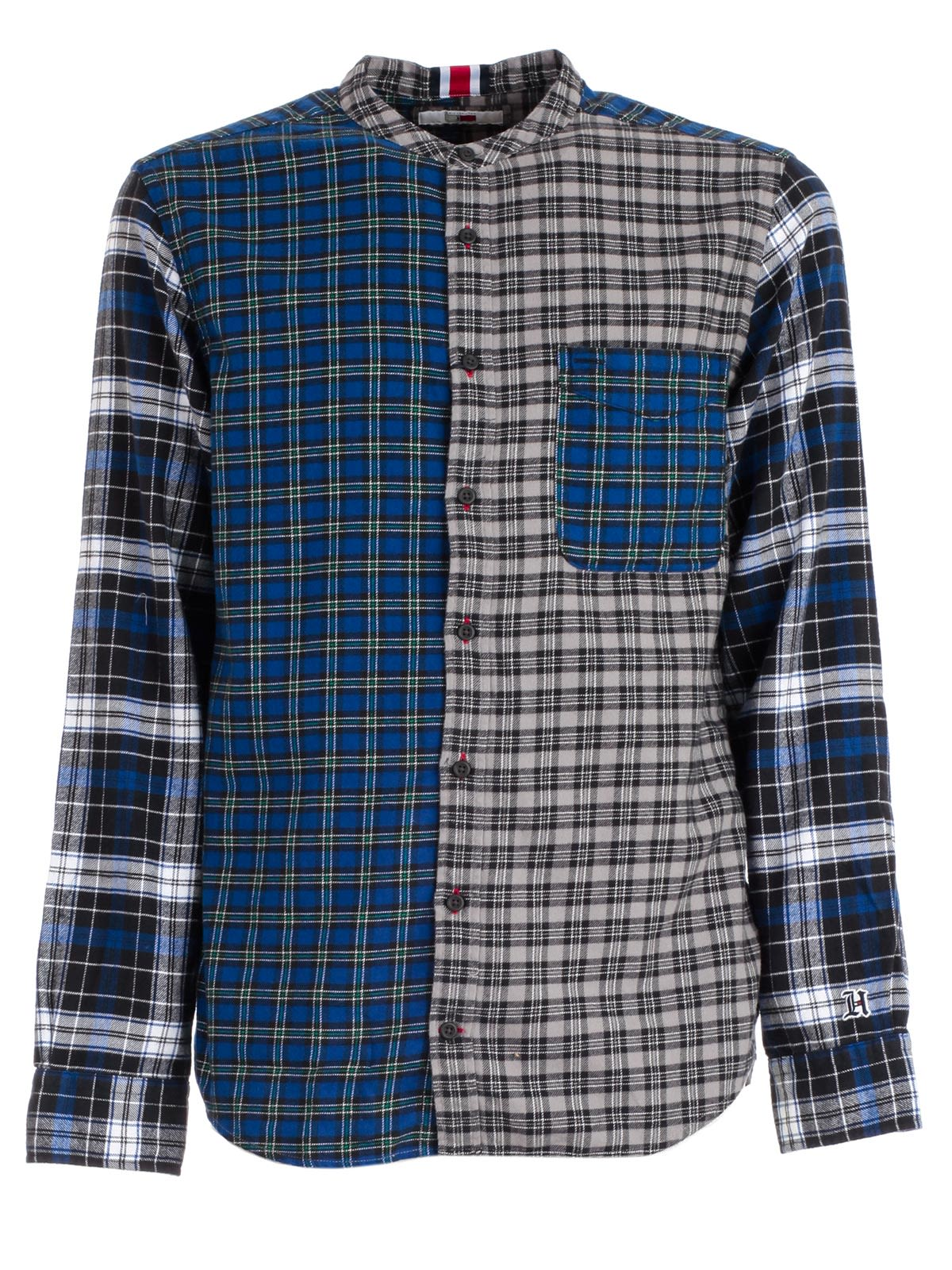 TOMMY HILFIGER X Lewis Hamilton Check Button-Down Shirt in Blue