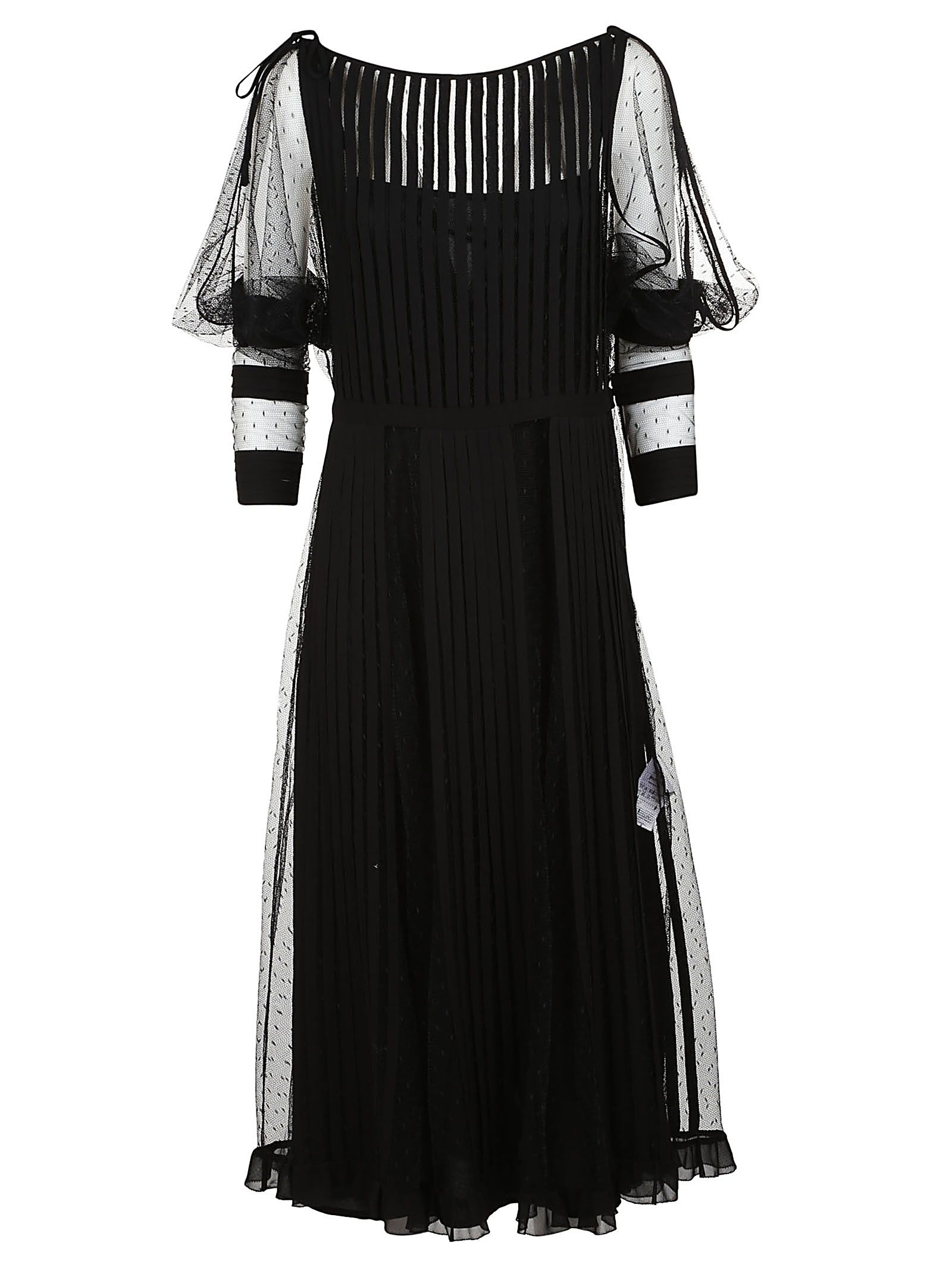 tulle panel dress - Black Red Valentino With Mastercard Cheap Price In China Cheap Price 100% Original Cheap Price Discount Visa Payment Sale Footlocker qOHzt