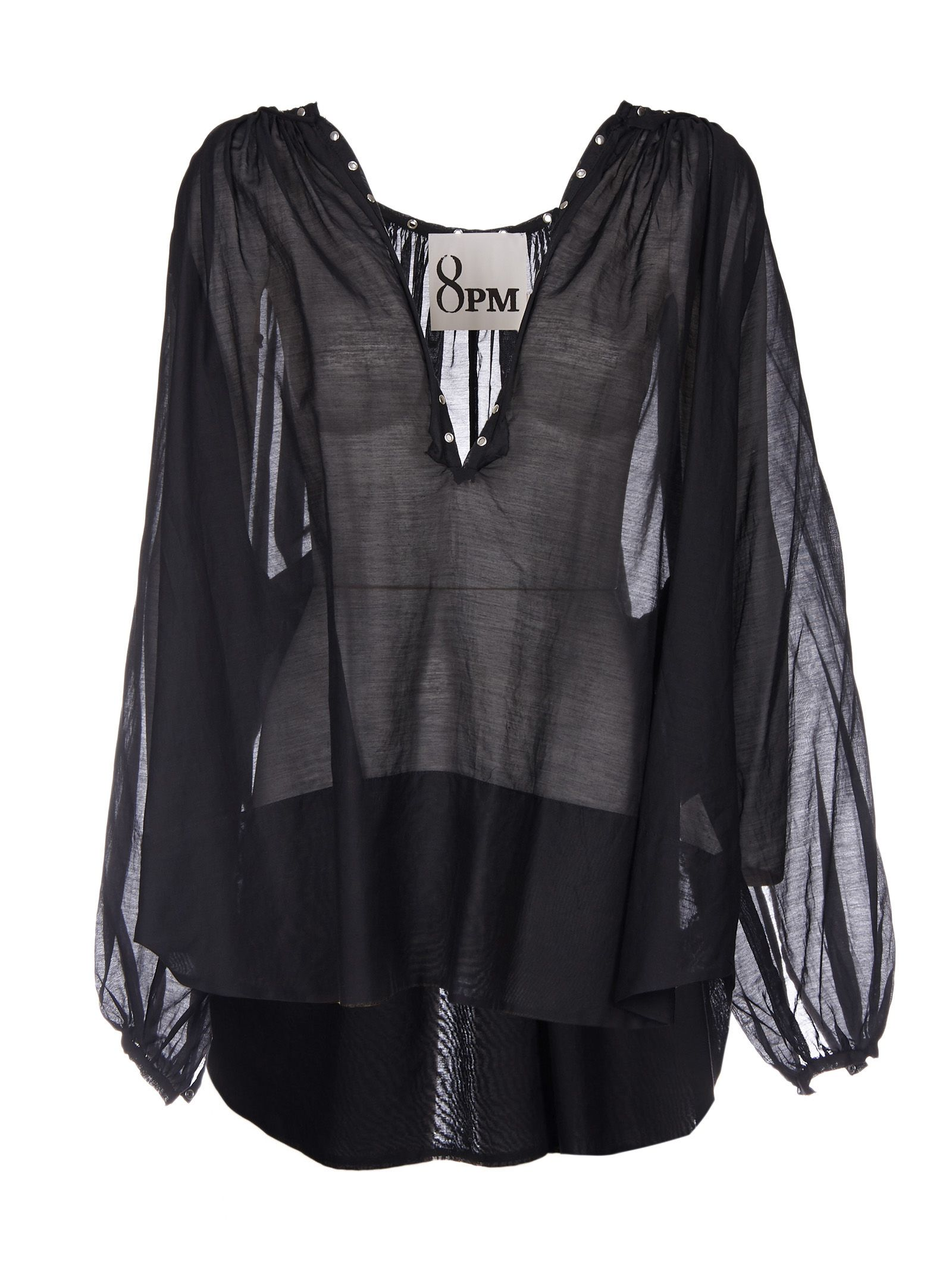 8pm female 8pm luxembourg rivet detail blouse