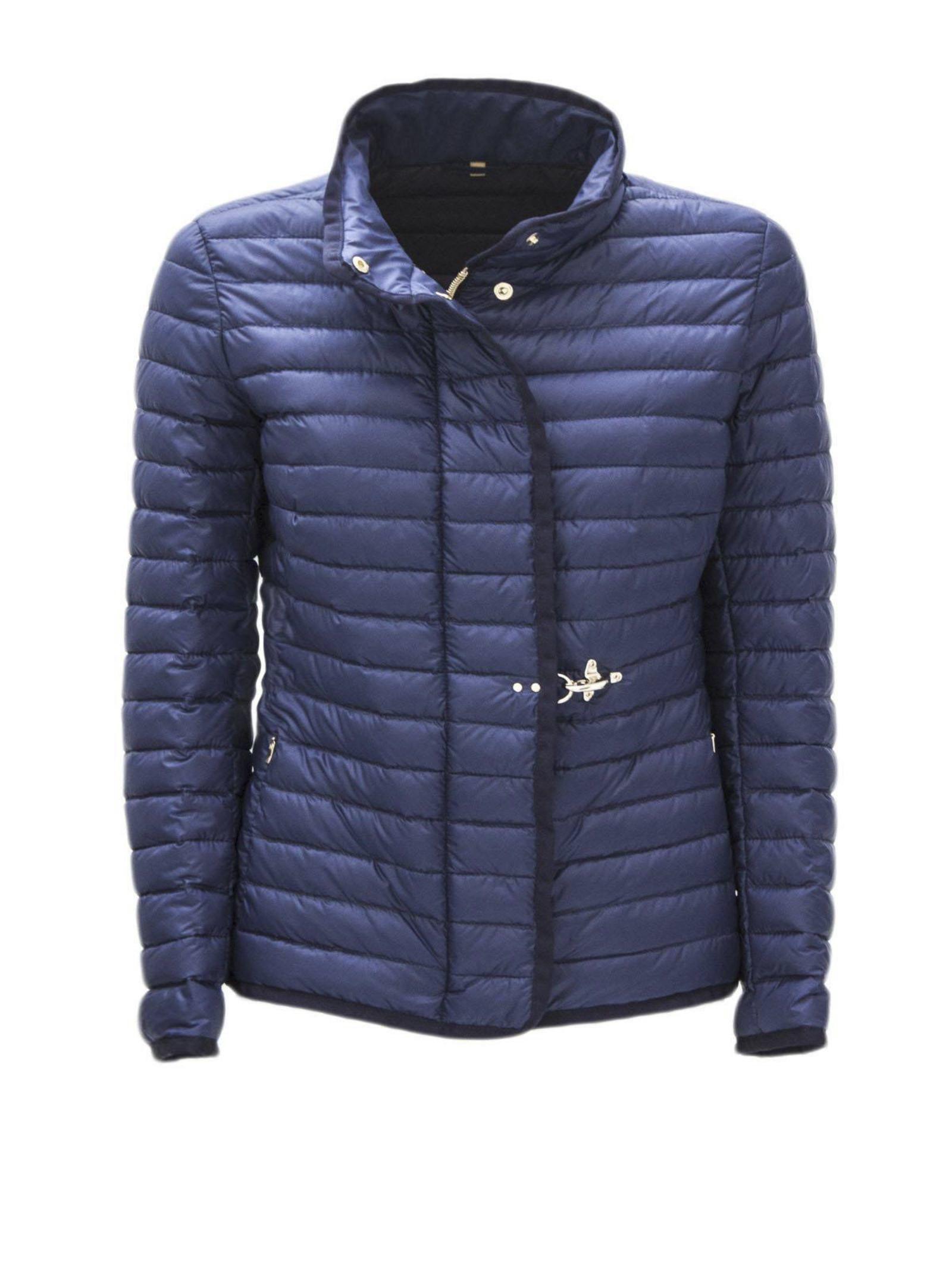 Light Down Jacket In Blue High Tech Fabric