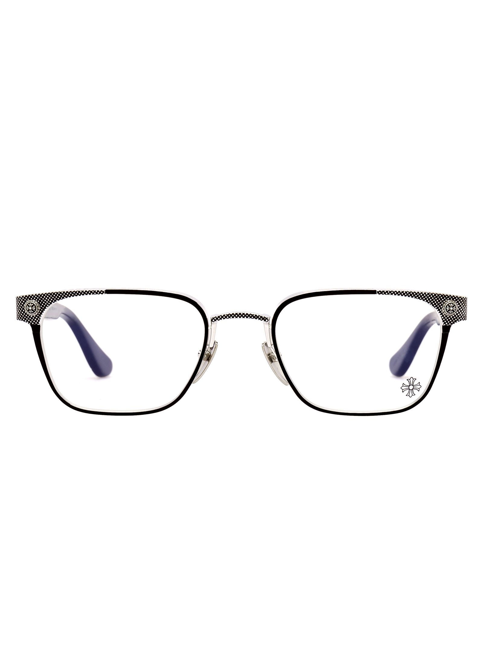 CHROME HEARTS Nastyfreeze Glasses in Mbk/Ss/Mbk/P