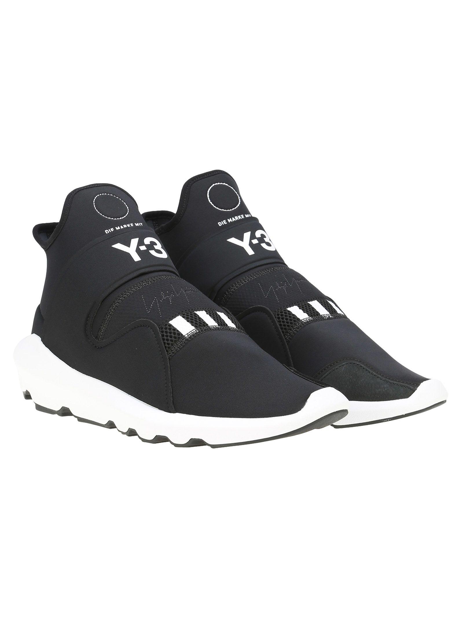 y 3 adidas y10 suberou black   white, uomini e 'sneakers italist