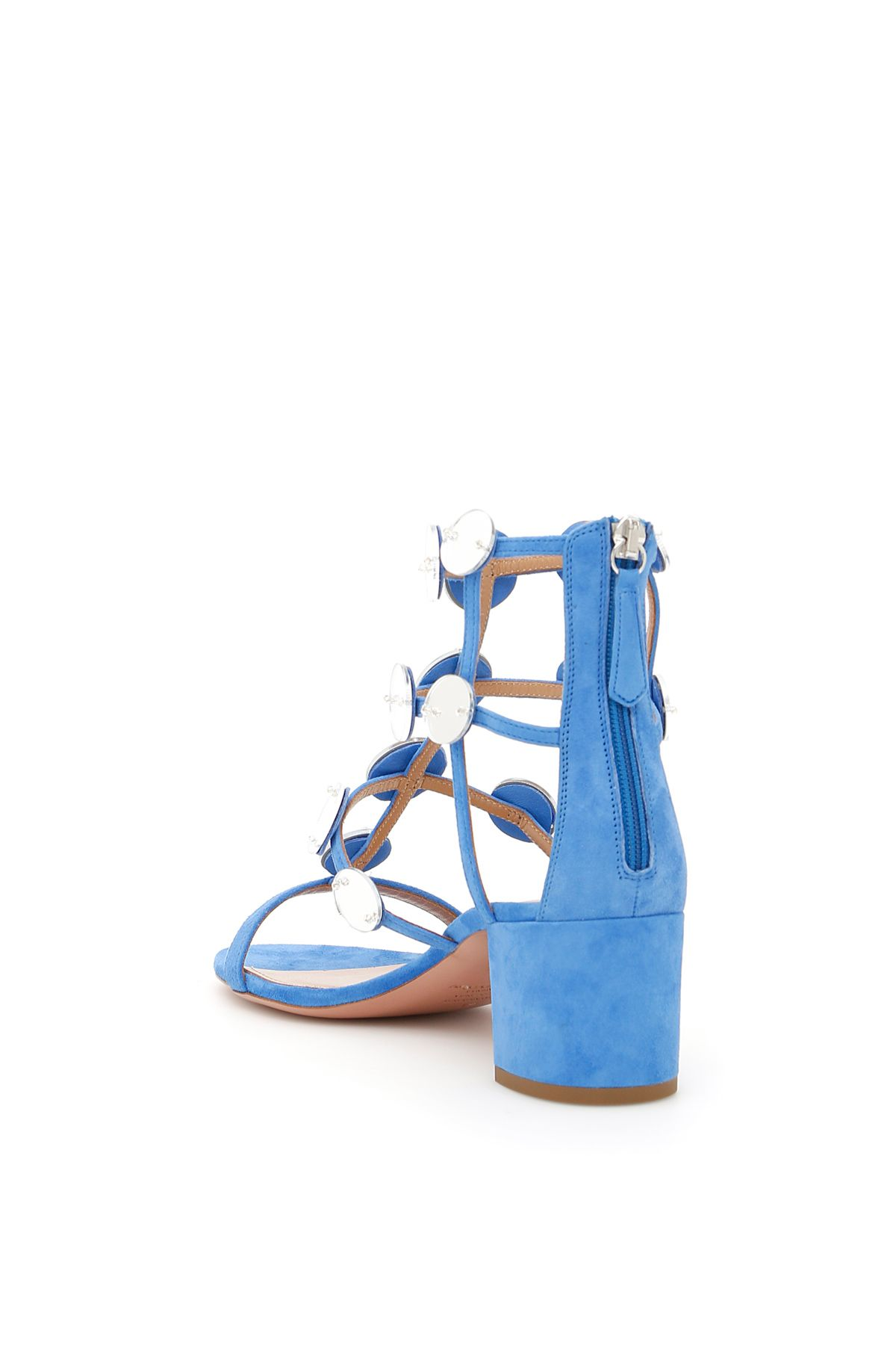 Light blue Indian Moon sandal Aquazzura