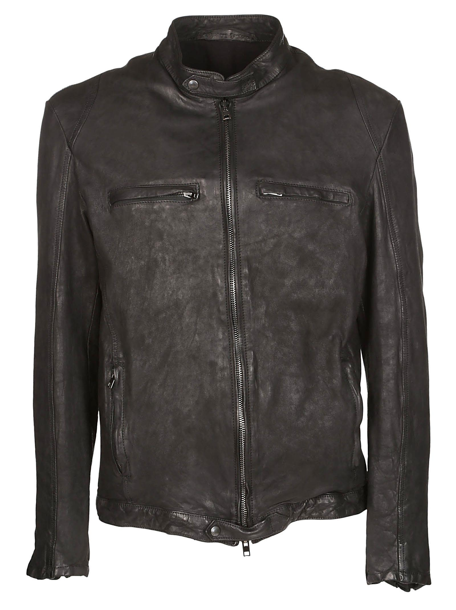 ZIPPED LEATHER JACKET