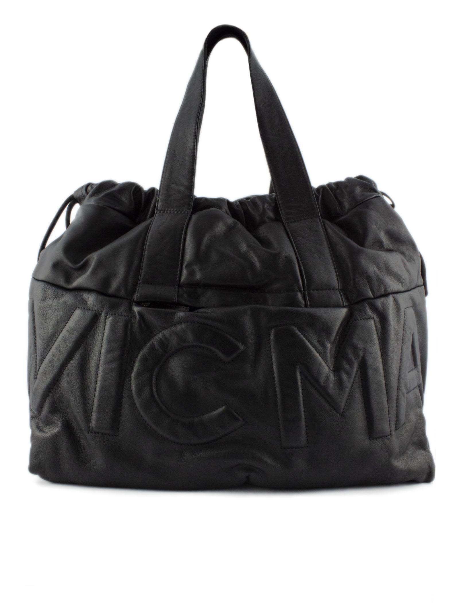 VIC MATIE Shopping Bag In Soft Black Leather. in Nero
