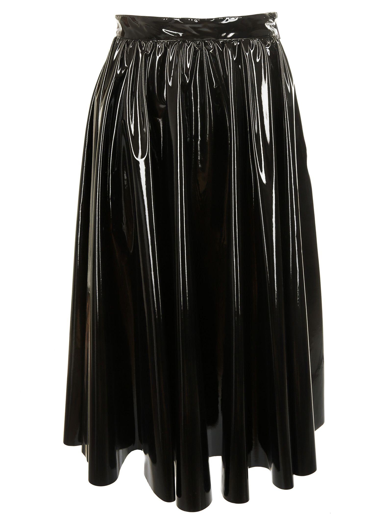 msgm -  Vinyl Flared Skirt