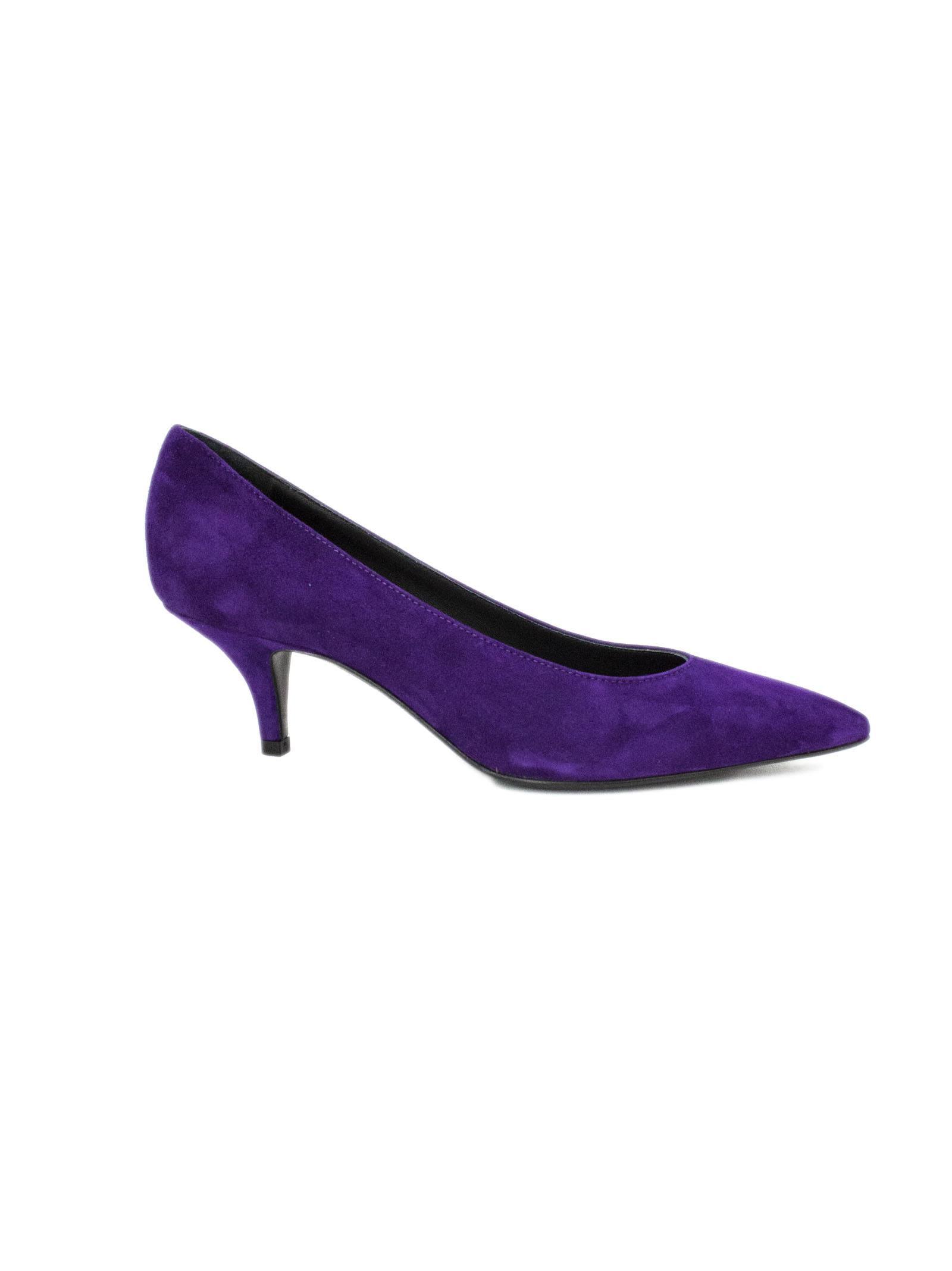 ROBERTO FESTA Claude Dècolletè In Purple Leather. in Dandy