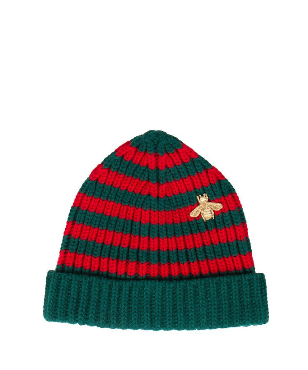 GUCCI STRIPED WOOL BEANIE
