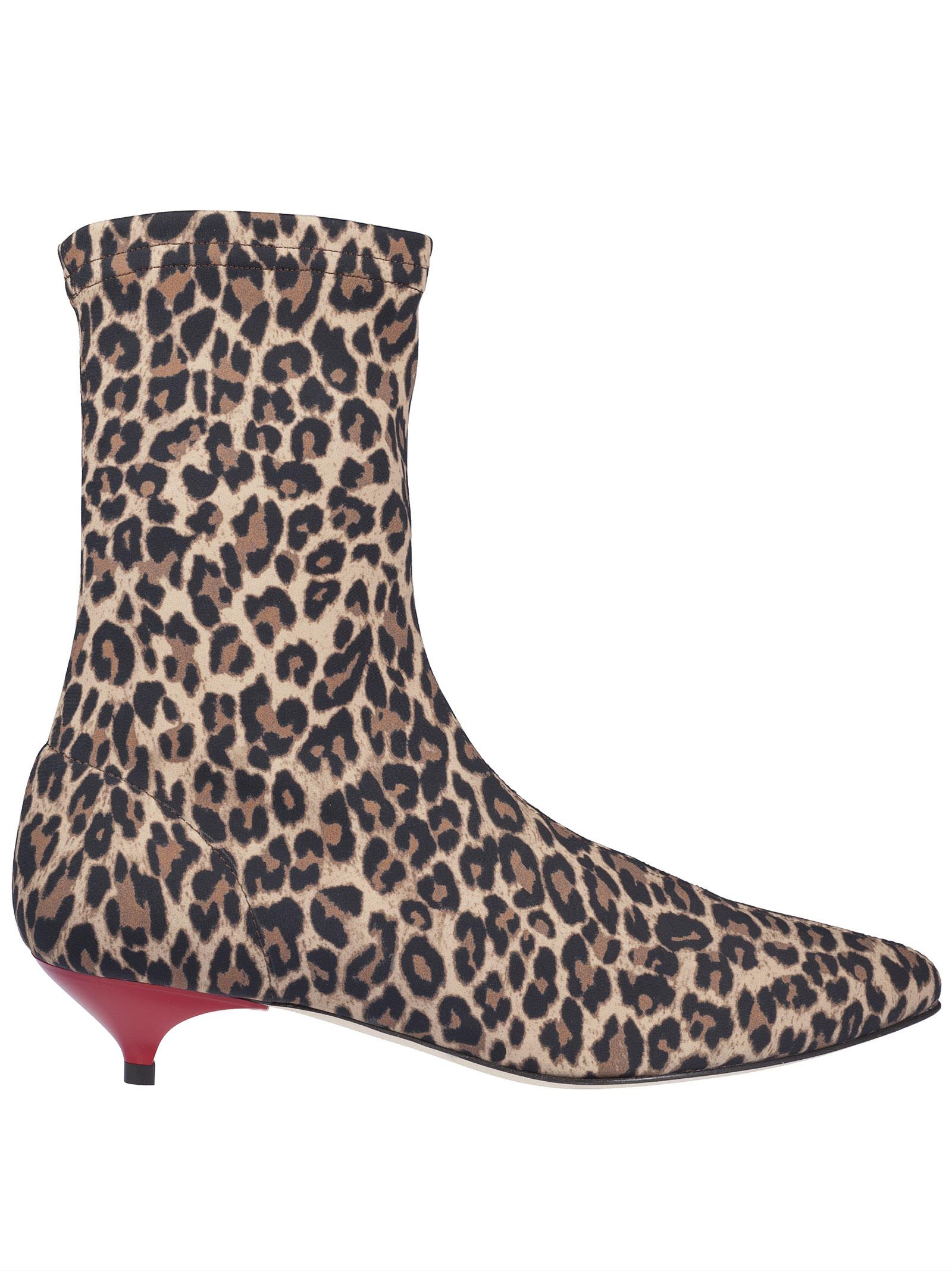 Gia Couture GIA COUTURE LEOPARD ANKLE BOOTS