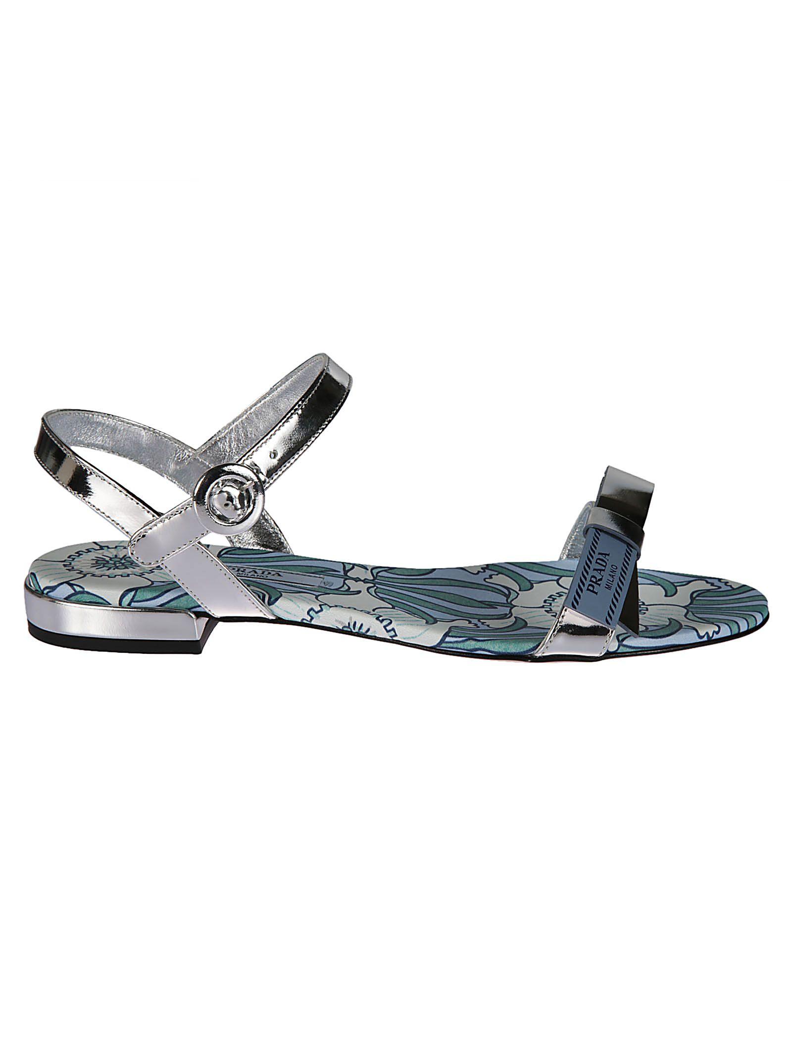 metallic bow detail sandals Prada Buy Cheap Very Cheap g69vSshH