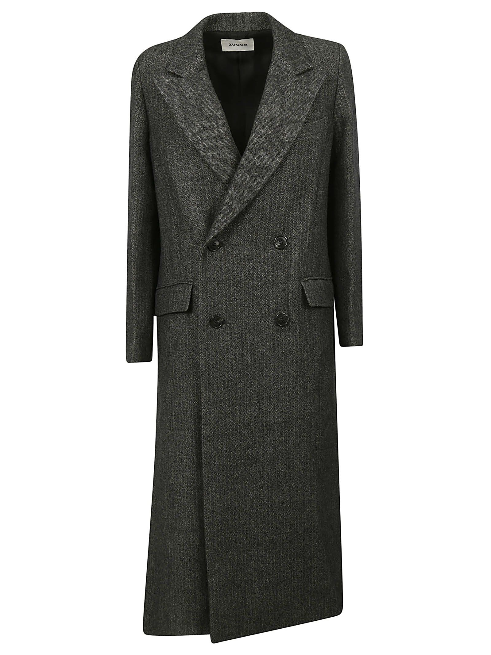 ZUCCA Double Breasted Coat in Grey