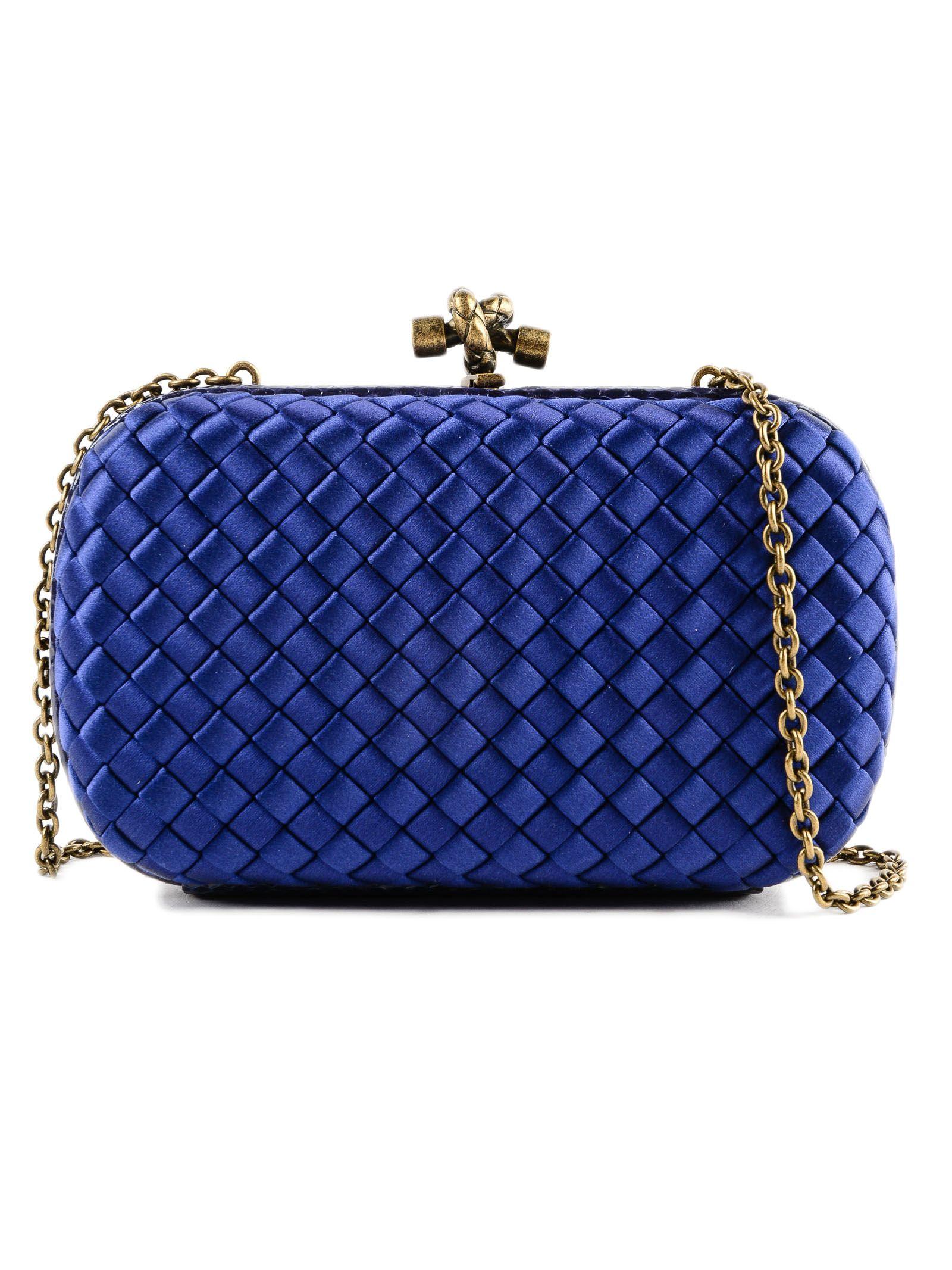 43255568fda3 Bottega Veneta Chain Knot Evening Shoulder Bag In Atlantic
