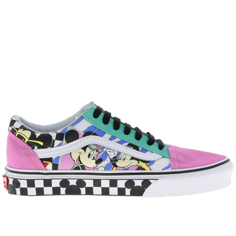 X Disney Mickey Mouse Ua Old Skool Low-Top Sneaker, Multicolor