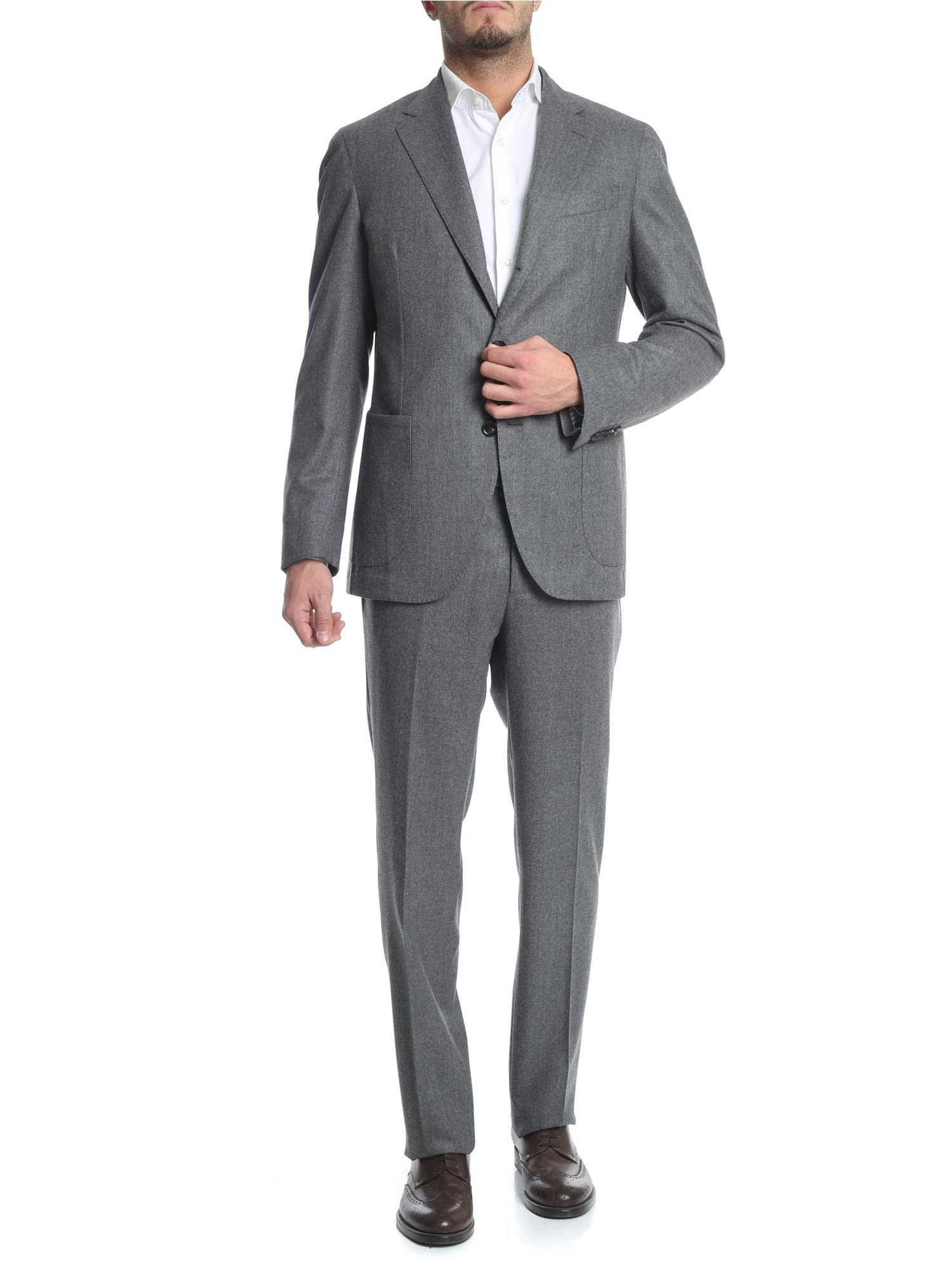 LUIGI BORRELLI Classic Suit in Grey