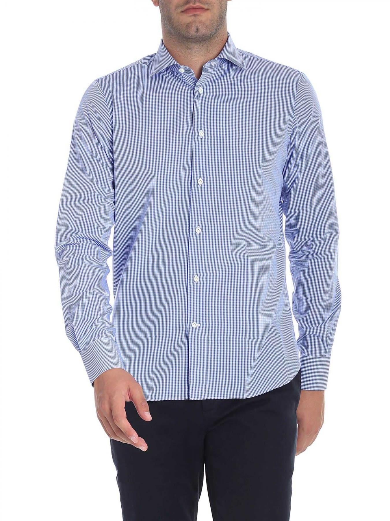 G. INGLESE Cotton Shirt in Light Blue