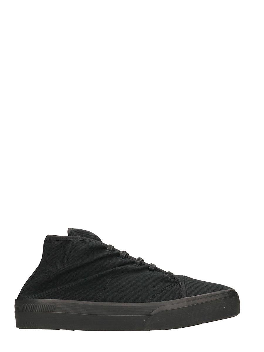 Jil Sander Black Canvas Sneakers 10329392