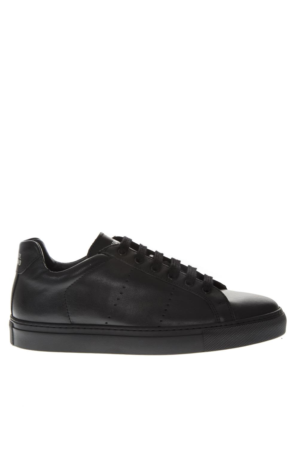NATIONAL STANDARD Black Holes Leather Sneakers