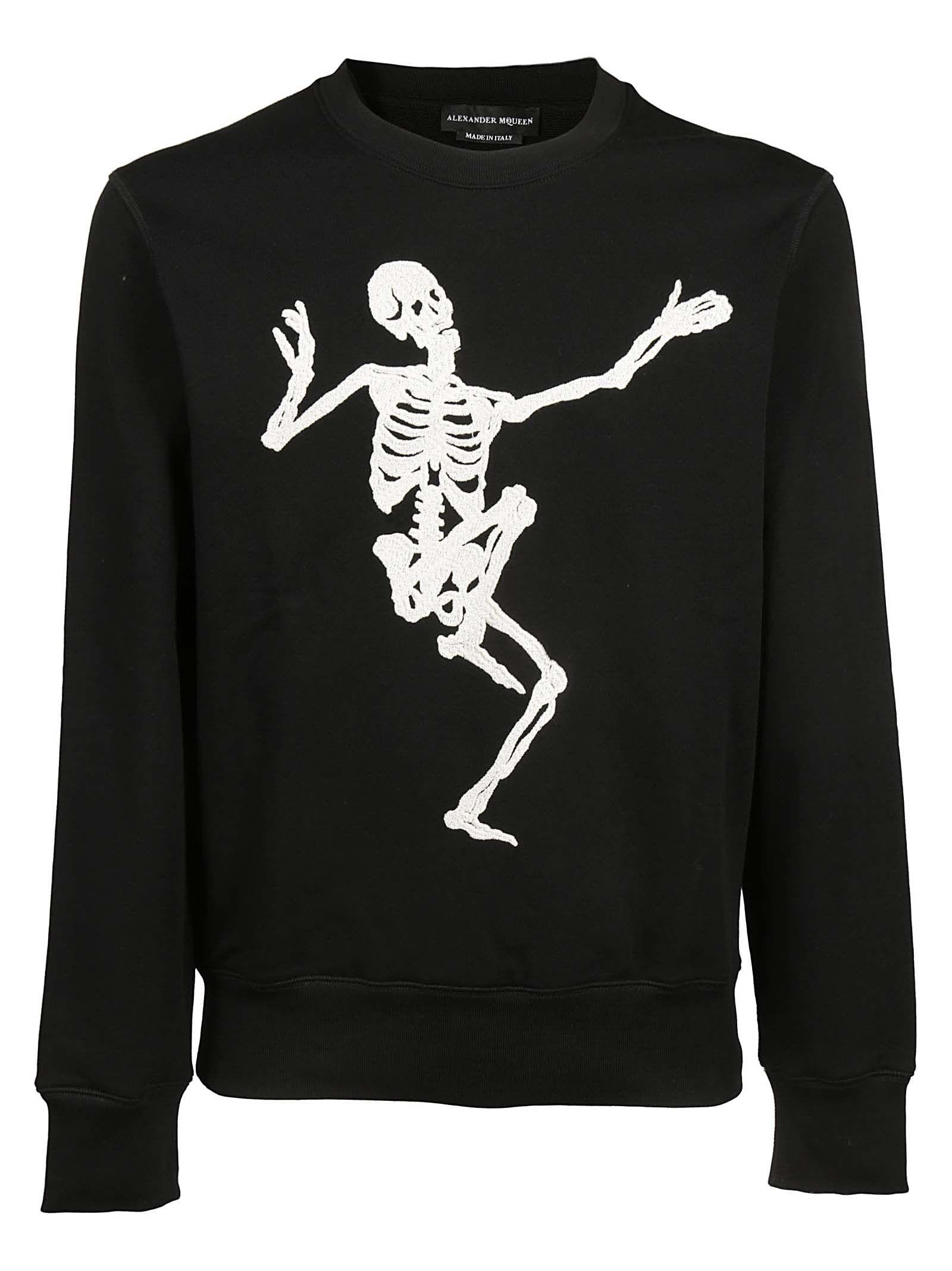 Alexander Mcqueen Dancing Skeleton Print Sweatshirt