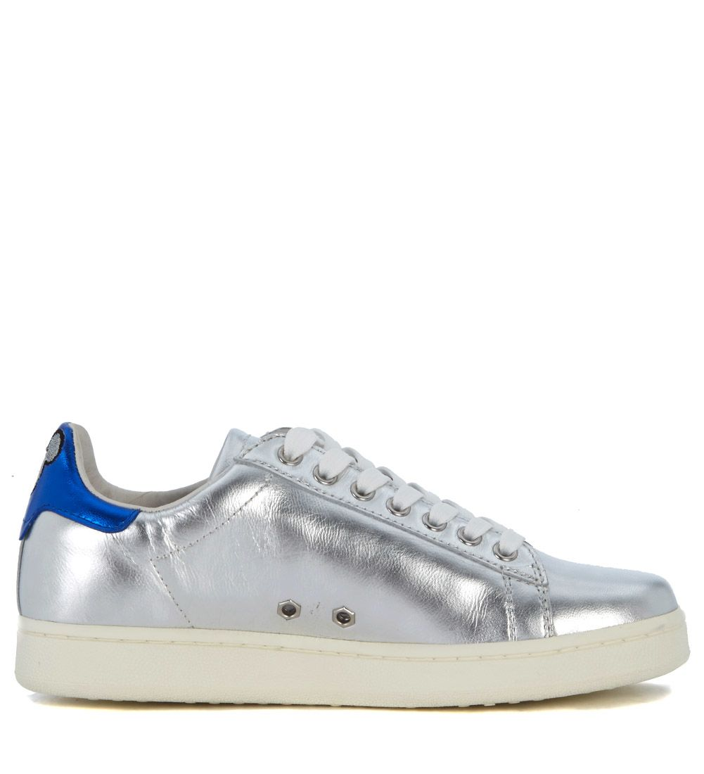 MOA MASTER OF ARTS Moa Silver Laminated Leather Sneaker With Mickey Mouse Shop Offer Cheap Price Cheap Sale Best Store To Get Cheap Comfortable Limited Edition Hurry Up DxfExaKEi