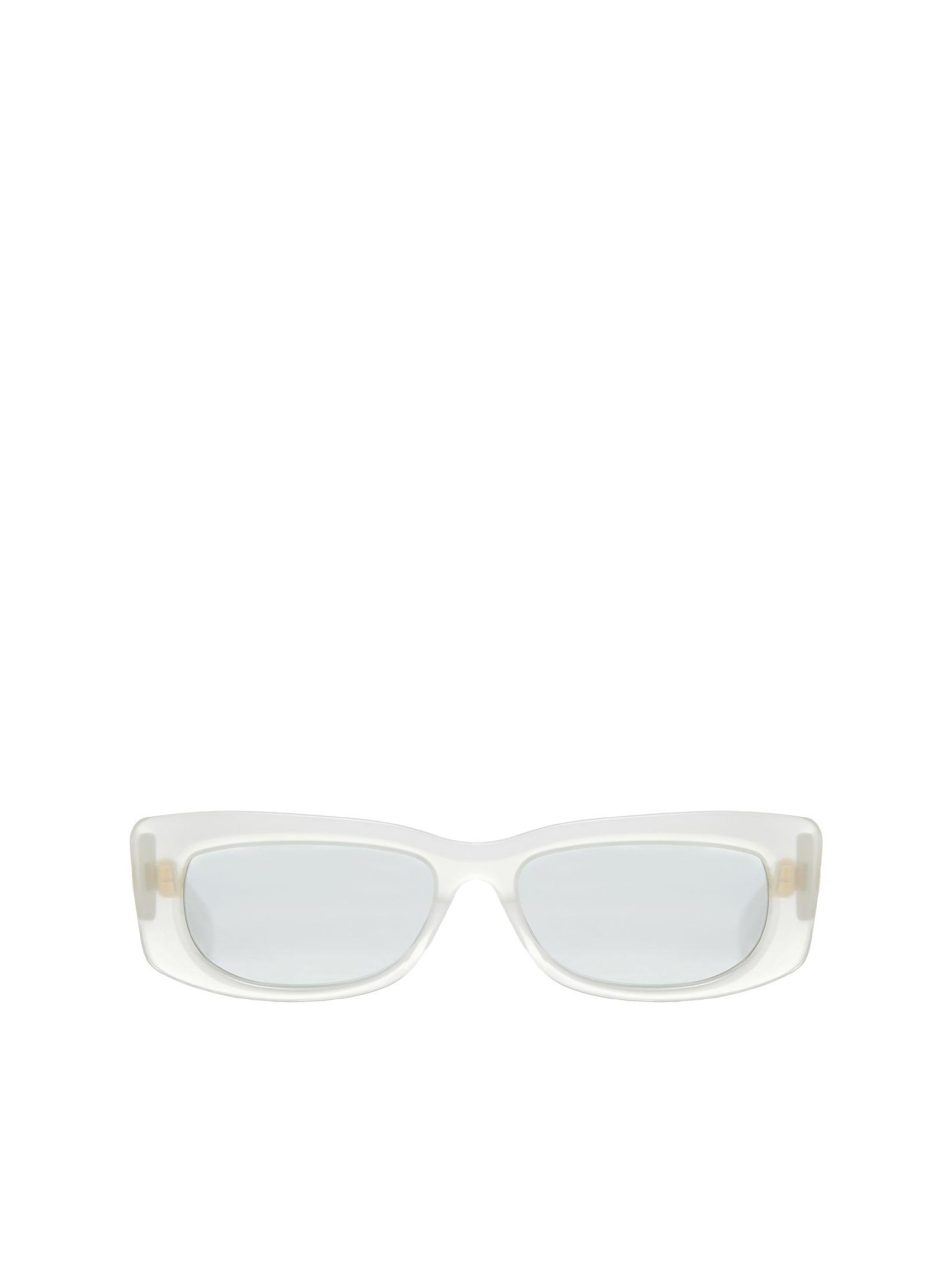 CHRISTIAN ROTH Dreesen Rectangular Sunglasses in Ghiaccio