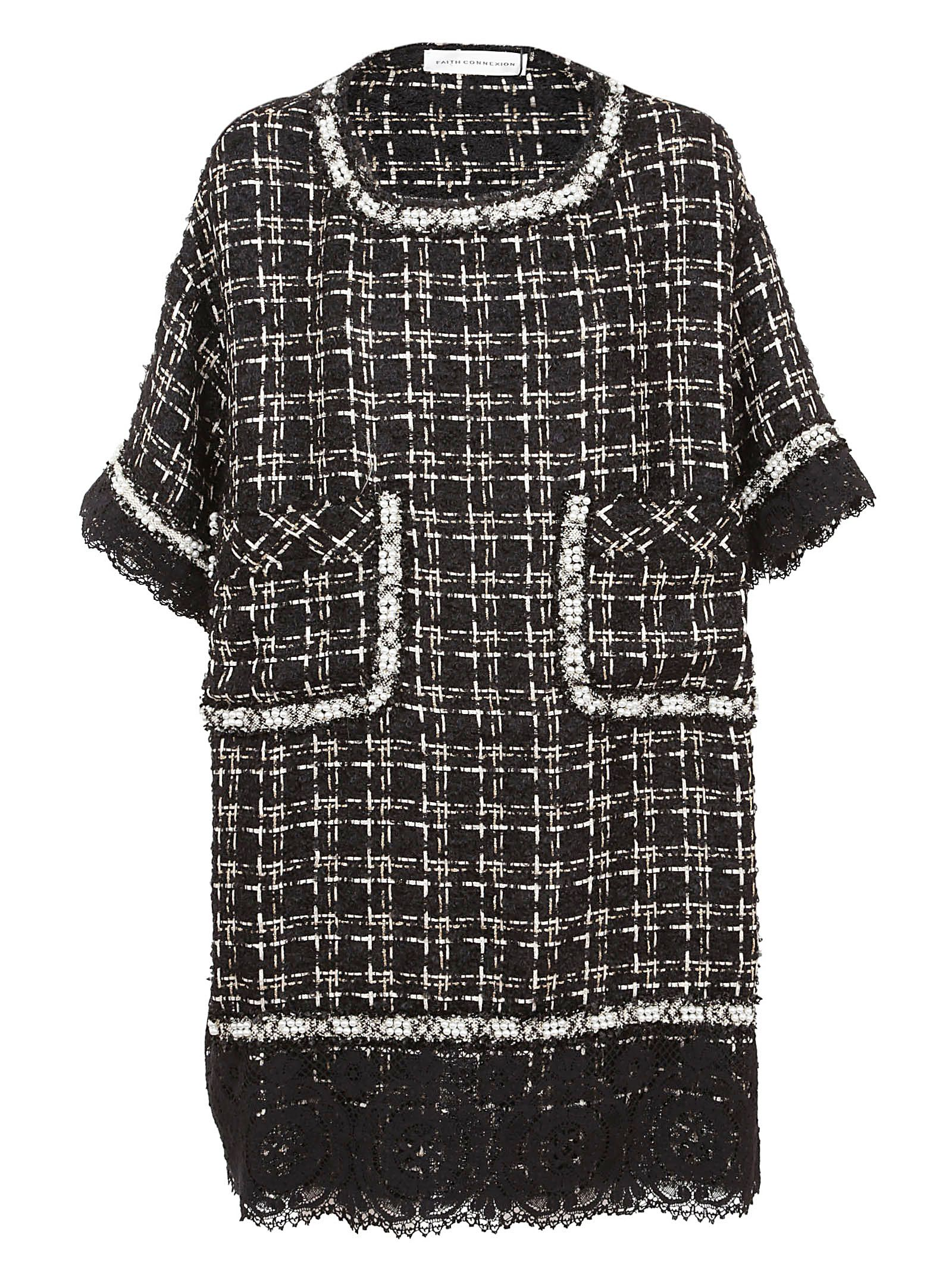 Faith Connexion OVERSIZED TWEED DRESS