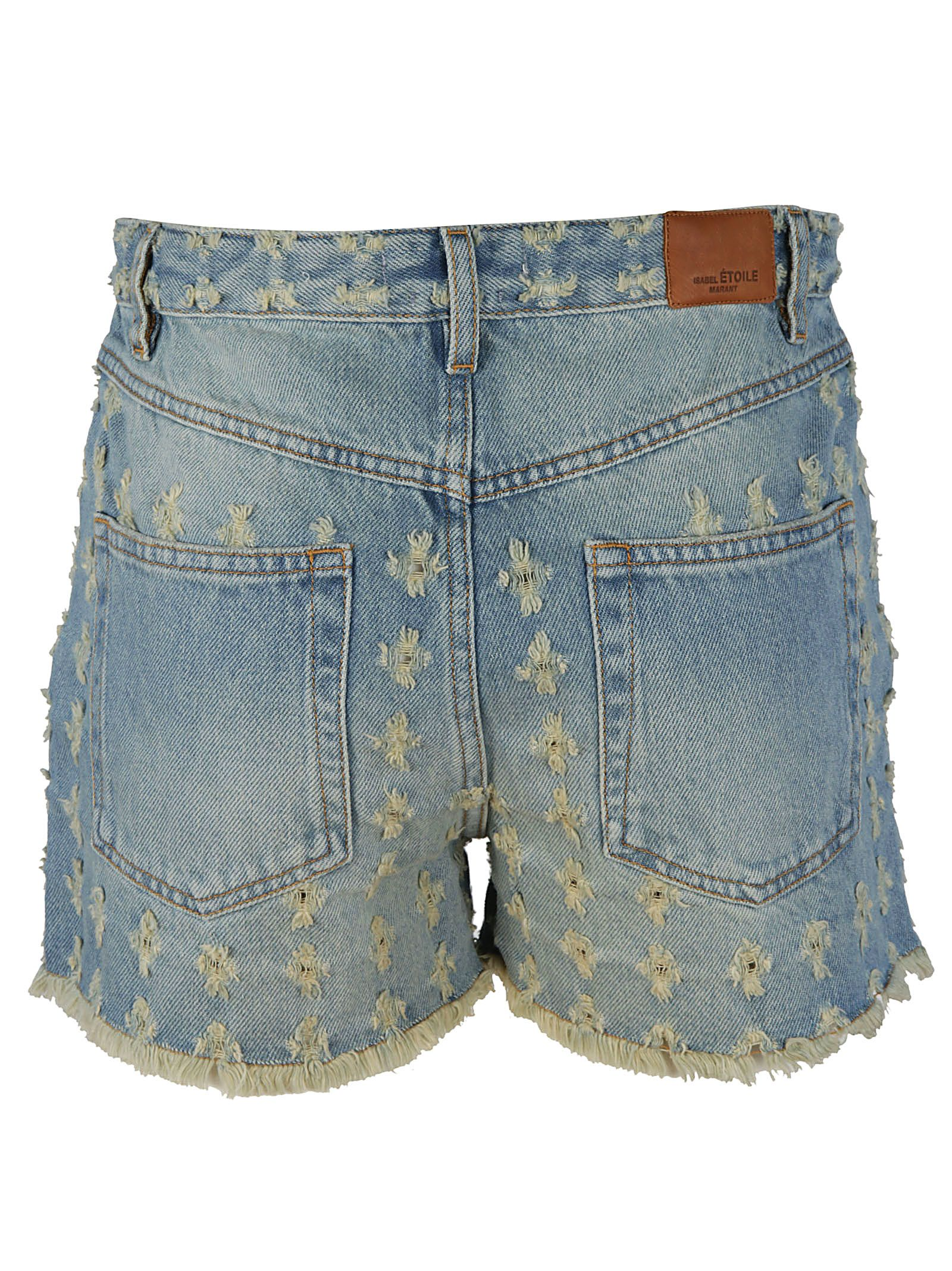 Isabel marant floral embroidered denim