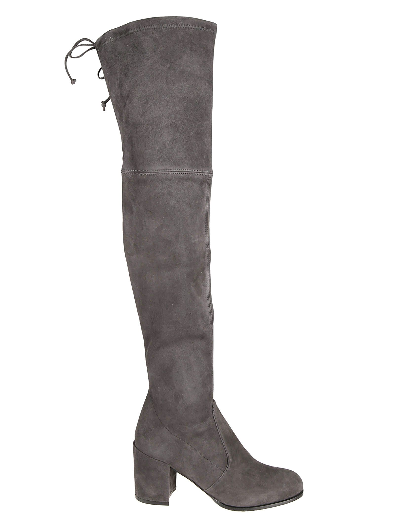 Tieland Over-The-Knee-Boots in Asphalt