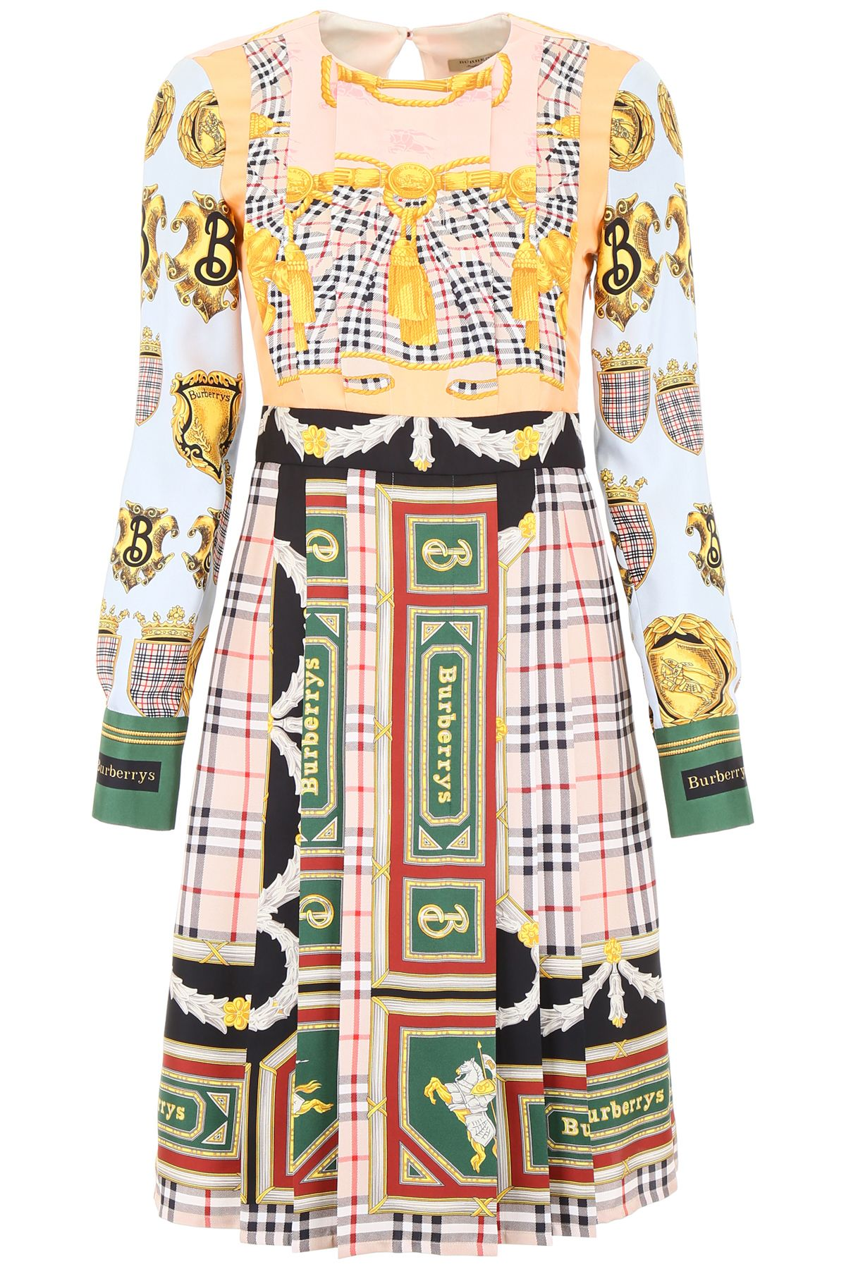 BURBERRY LOGO SILK DRESS