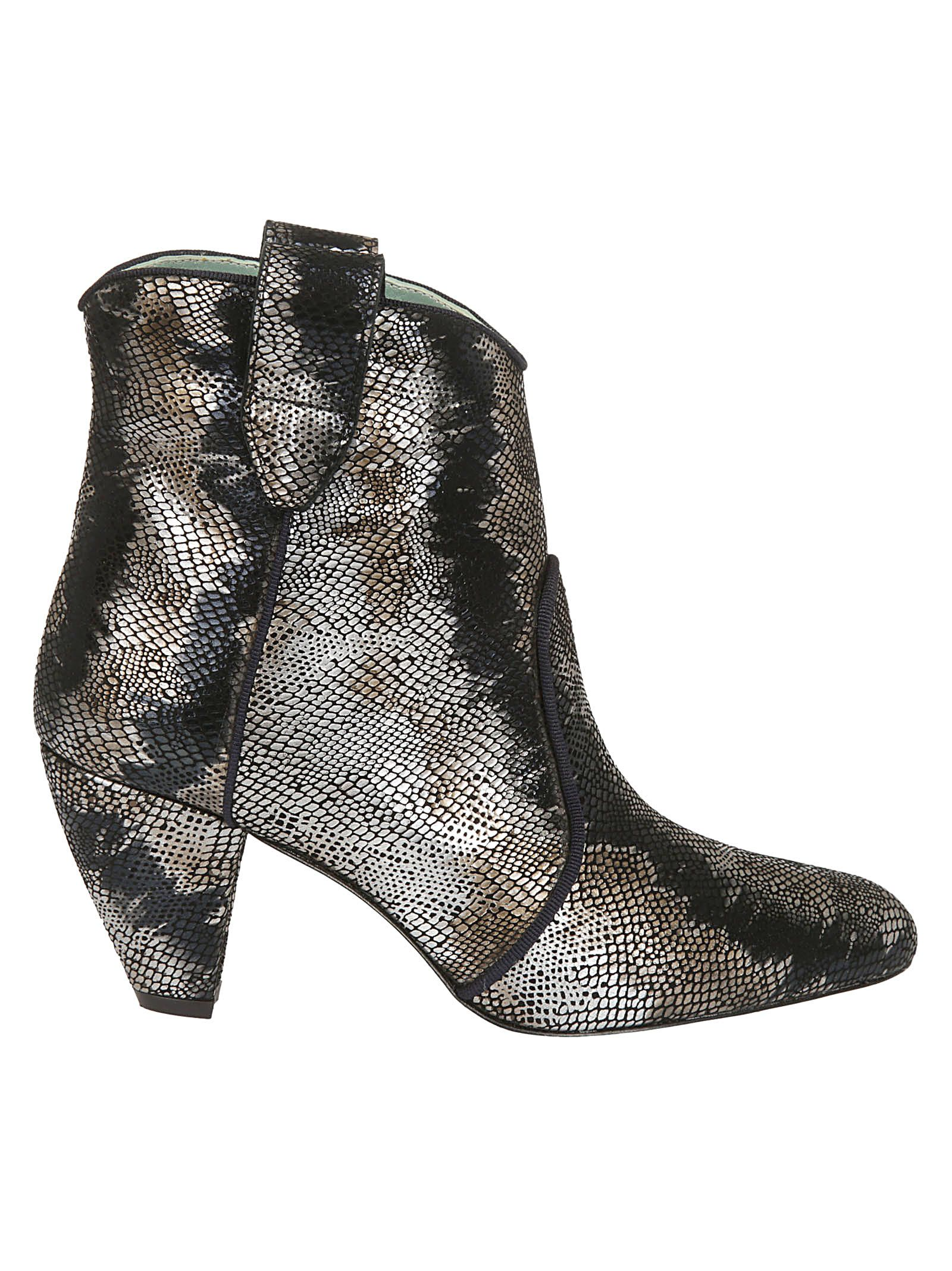 PAOLA D'ARCANO Paola D'Arcano Sequin Ankle Boots in Silver
